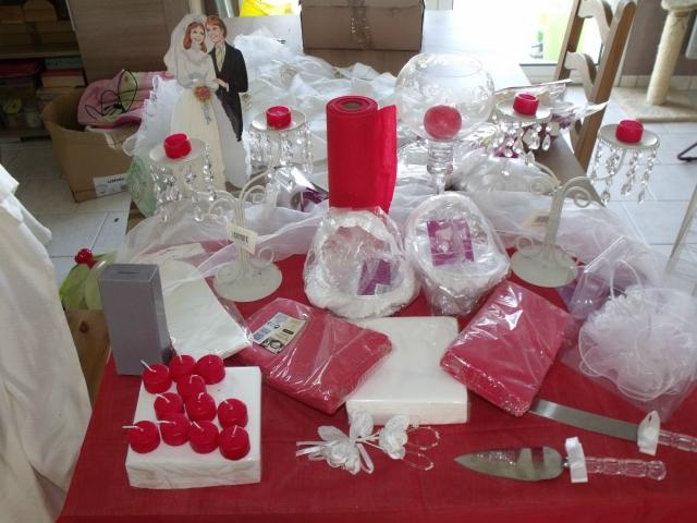 D co rouge et blanche - Deco de table rouge et blanc ...