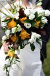 Bouquet de mariage orange