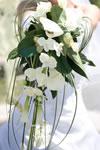 Bouquet de mariée avec des orchidées